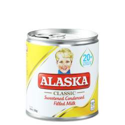 Alaska classic sweetened condensed filled milk 390g