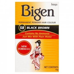 Bigen hair colour 58 black brown