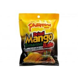 dried mango tamarind balls 100g philippine brand
