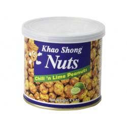chili 'n lime peanuts 140g Khao Shong