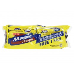 Magic creams butter flavoured cream cracker sandwich 308g