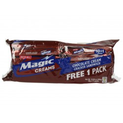 Magic creams chocolate cream cracker sandwich 308g