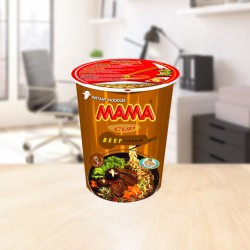 Instant cup noodles beef 70g Mama