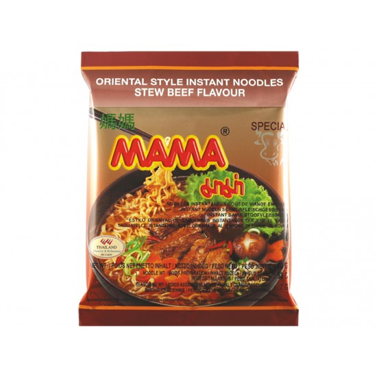 Instant noodles stew beef flavour 60g Mama