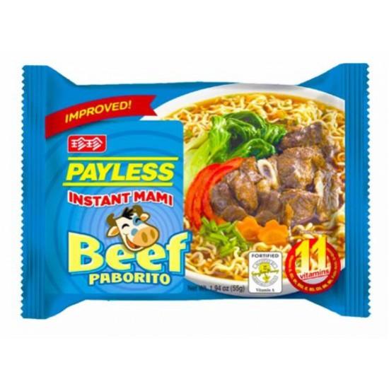 Instant mami beef paborito 55g Payless