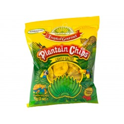 Plantain chips lightly salted 85g Tropical Gourmet