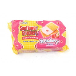 sunflower crackers strawberry flavor 190g