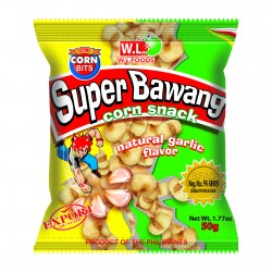 super bawang corn snack garlic flavor 100g wl foods