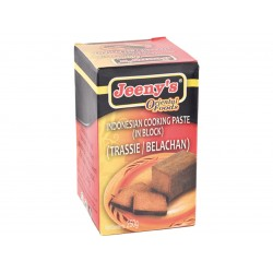 Indonesian style cooking paste in block trassie / belachan 250g Jeeny's