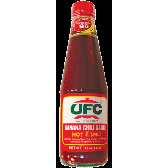 Banana chili sauce hot&spicy 320g UFC